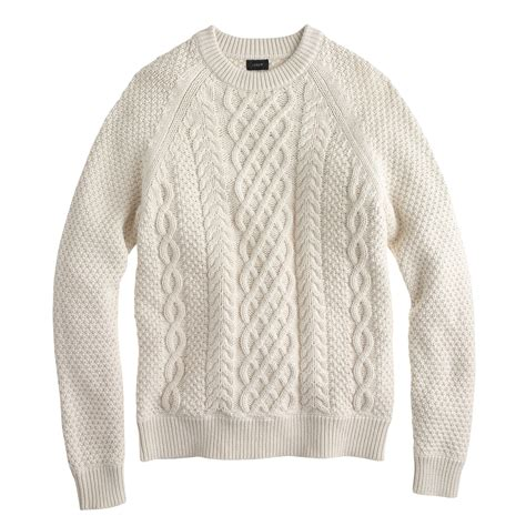 sweaters for j crew cable cotton sweater in beige for mountain