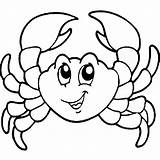 Crab Coloring Pages Cartoon Crabs Fish Template Printable Drawings Animal Sea Clipart Creatures Coconut Preschool Templates Coloringbay Results Coloring2print sketch template
