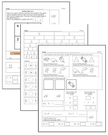 free third grade math worksheets edhelper com