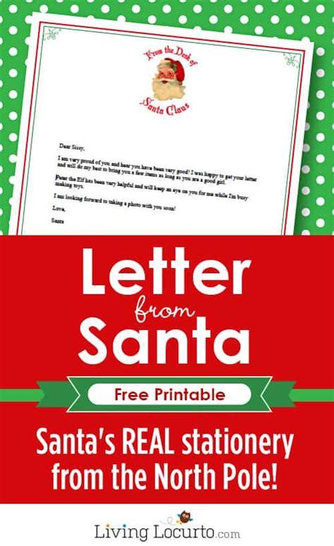 letter  santa  printable santa stationery