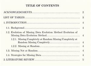 Apa format table of contents wwwpixsharkcom images for Apa style latex template