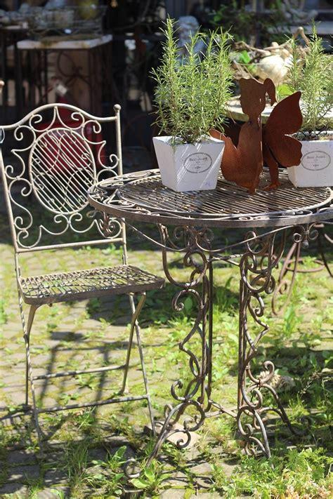 Gartenmöbel Landhaus by Tisch Mit 2 St 252 Hlen Eisen Antik Patiniert Gartenm 246 Bel
