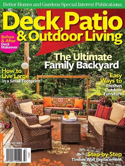 outdoor living magazines magazine detail page deck patio outdoor living