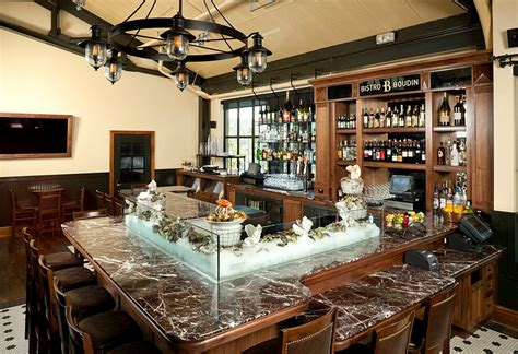 oyster bar hospitality interior design of bistro boudin