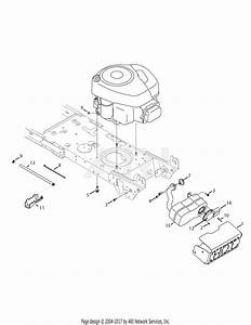 Troy Bilt 13an77kg011 Pony  2008  Parts Diagram For Engine