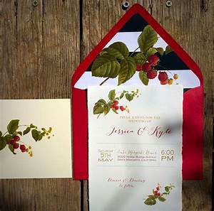 New vintage botanical berries hemp paper wedding for Hemp paper wedding invitations