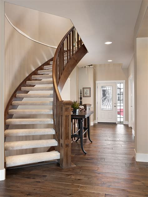 Baroque stair carpet treads in Staircase Transitional with