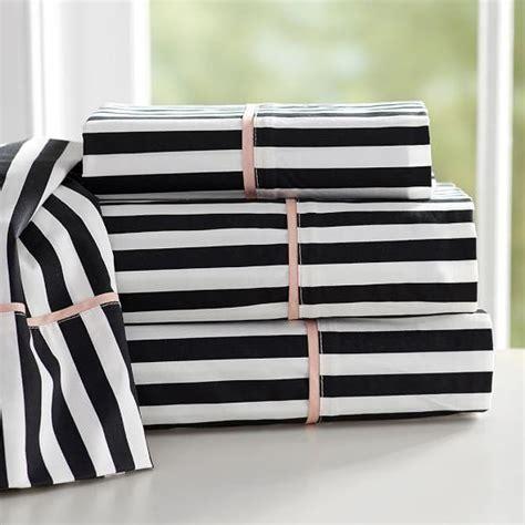 black and white sheets black trimmed ruffle white sheet set