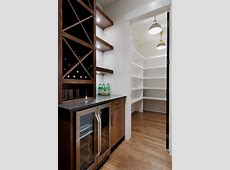 Butlers pantry with large walkin pantry Contemporary