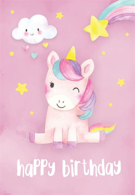 happiest unicorn birthday card   island