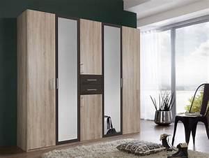Kleiderschrank Mit Viel Stauraum : dustin kleiderschrank mit spiegelt r 225 cm eiche ~ Whattoseeinmadrid.com Haus und Dekorationen