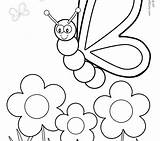 Coloring Pages Aardvark Blank Butterfly Flower Pre Getcolorings Printable Animal sketch template