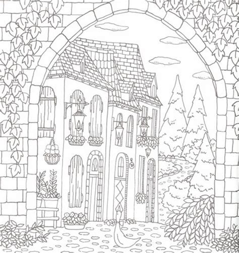 romantic country coloring book finished pages coloring pages
