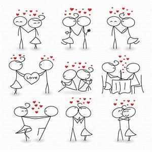 Stick Figure Clipart Clip Art Love Stick People Couple Clipart Clip Instant Download Art