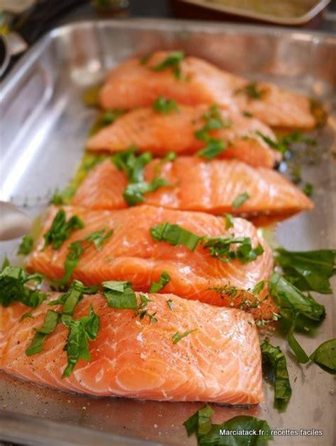 cuisiner au four pavés de saumon au four la recette facile marciatack fr