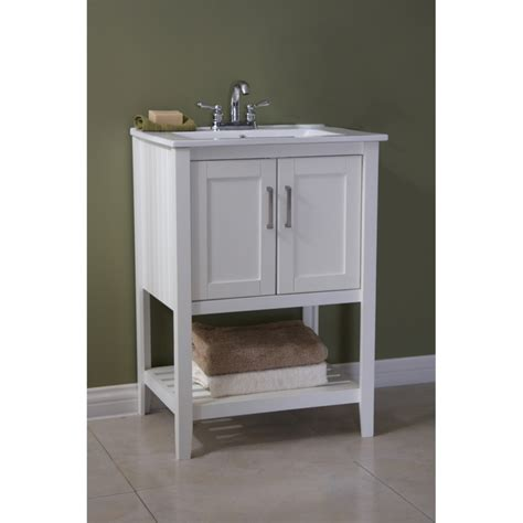 Bathroom Vanity Without Sink by 24 Quot Sink Vanity Without Faucet White