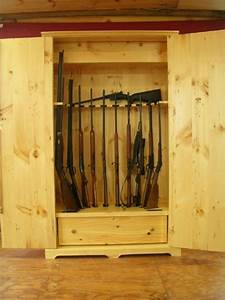 Hand Made Wooden Gun Storage Safe by Larue Woodworking