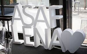 lena asaf family fun jewish wedding at melbourne With giant styrofoam letters