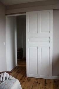 porte coulissante avec ancienne porte recherche google With porte de garage coulissante et porte intérieure ancienne