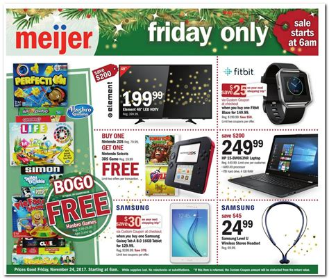 black friday table deals 2017 meijer black friday ad 2017