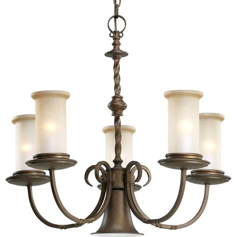 Chandeliers Lighting Collections by Progress Lighting Santiago Collection 5 Light Roasted Java
