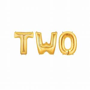 two letter balloons two year old birthday letter balloons With metallic gold letter balloons