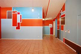 Interior Design Wall Painting Plans Wall Design Ideas Abstract Full Color Home Office Design Ideas
