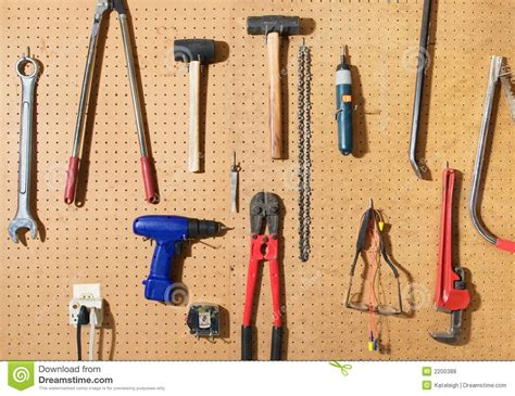 hanging tools on wall tool wall stock photo image of wrench shop board 4145