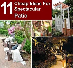 11 cheap ideas for spectacular patio DIY Home Things