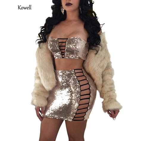 kowell summer bodycon sexy dress sequined mini dress night