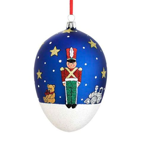 2015 reed barton toy soldier egg glass blown christmas