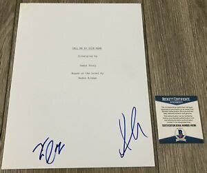 TIMOTHEE CHALAMET ARMIE HAMMER SIGNED CALL ME BY YOUR NAME ...