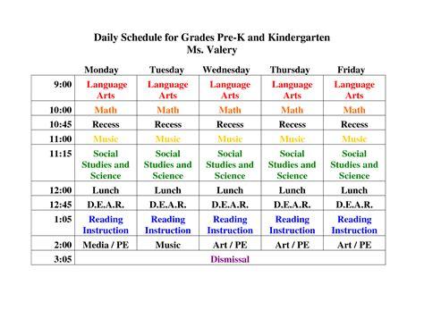 pre k daily schedule search preschool 711 | 5874dcaee63b81a891a5e091e8965c4a