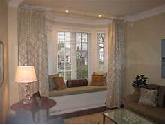 Living Room Curtains Decorating Ideas by Wonderful Curtains For Bay Windows Decorating Ideas