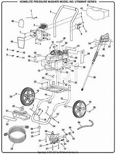 Homelite Ut80993f Pressure Washer Parts Diagram For General Assembly
