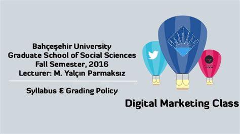 digital marketing graduate bahcesehir digital marketing class syllabus