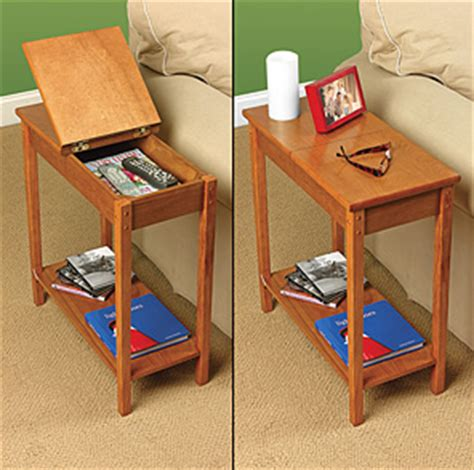 Chair Side Tables With Storage by Chair Side Storage Table Stashvault