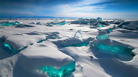 siberia lake baikal winter snow sky mountain russia ice