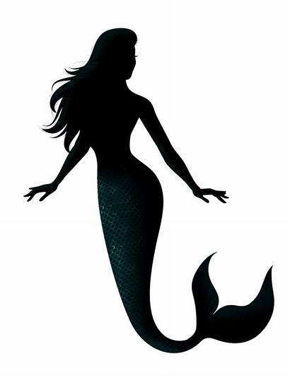 Mermaid Transparent Silhouette Sereia Clipart Silhouettes Monster