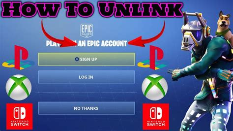 How To Unlink Epic Games Account Ps4 Xbox Switch (nov18