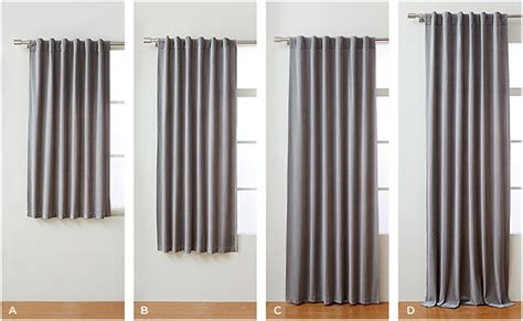 Drapes Sizes - how to choose the right curtains front