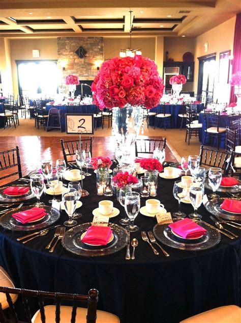 pink and navy wedding reception site wedding wishes