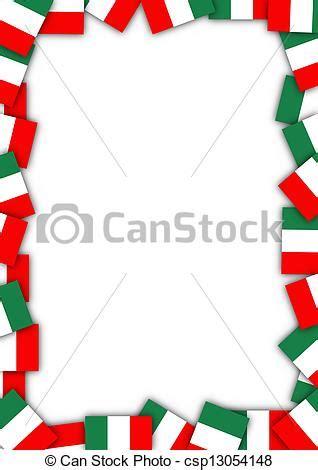 cornice tricolore bandiera italia bordo cornice fatto bandiere