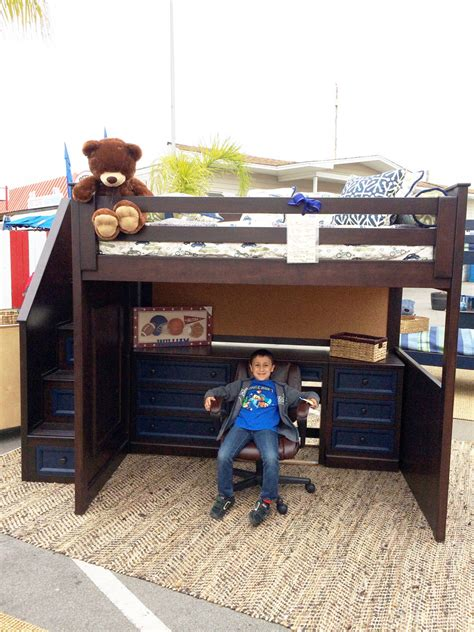 david study loft bed with stairs alley factory