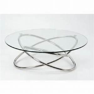 Table Basse En Verre Ronde : table basse ronde verre et chrome le bois chez vous ~ Teatrodelosmanantiales.com Idées de Décoration