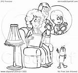 Coloring Pill Outline Clipart Royalty Talking Couple Expecting Illustration Bannykh Alex Rf Pillbox Template sketch template