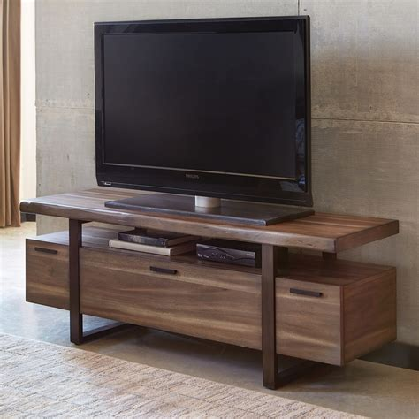 cabinet with tv rack shop scott living atticus hazelnut tv cabinet at lowes com