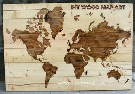 wood map wall diy wooden world map the happier homemaker 1600