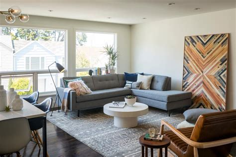 Grey Living Room Hgtv by Mid Century Modern Living Room With Gray Hgtv