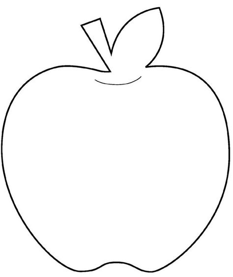 apple template apple stencil printable coloring home
